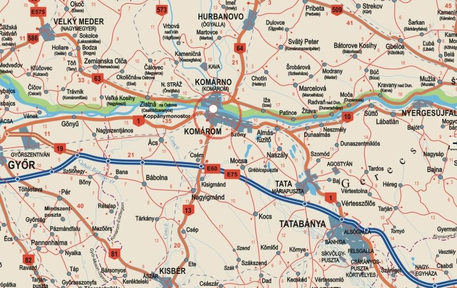 komárom térkép Komárom   térkép