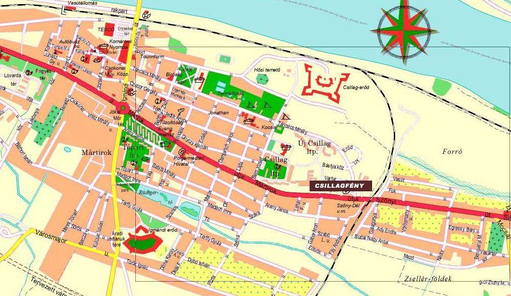 komárom térkép Csillagfény   Komárom komárom térkép