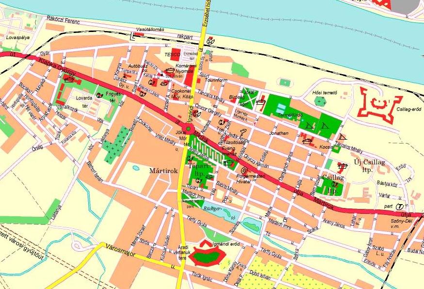 komárom térkép Map of Komárom komárom térkép